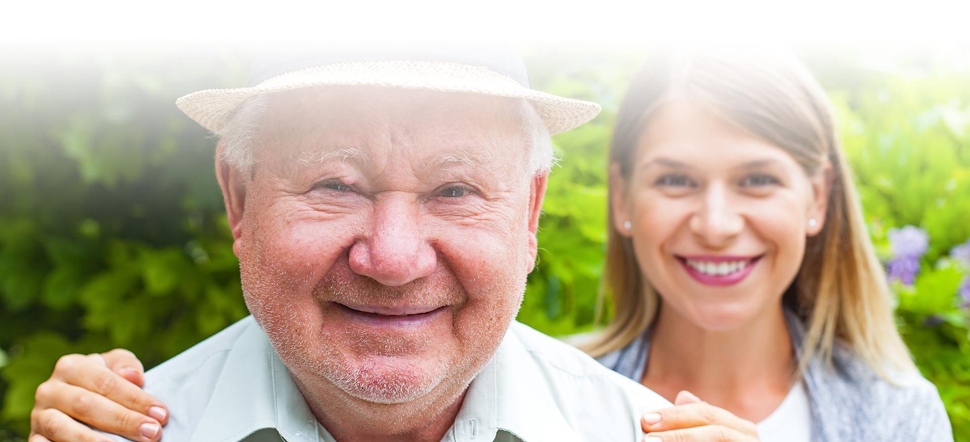 Start the Conversation: senior man with daughter